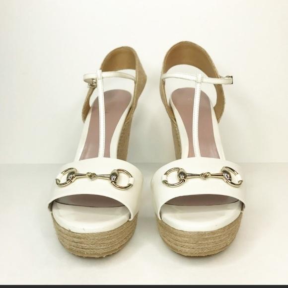 b8327a3cf Gucci Shoes | White Patent Leather Horsebit Espadrille | Poshmark